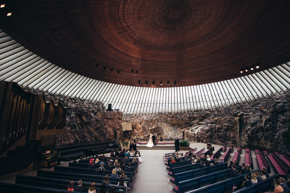 häät temppeliaukion kirkko vihkiminen